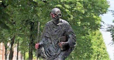 'Mahatma Gandhi's statue