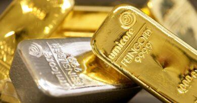 Gold fell sharply