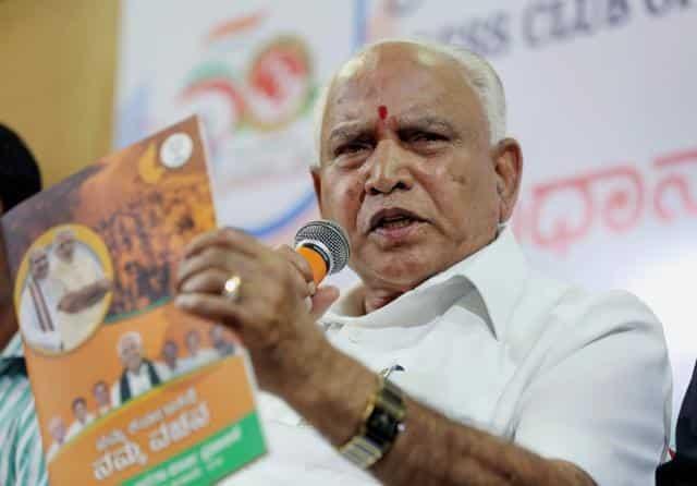 CM Yeddyurappa campaigning