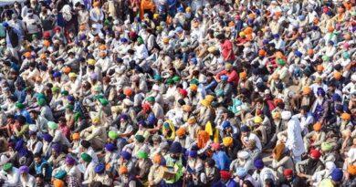 Farmers gathered at