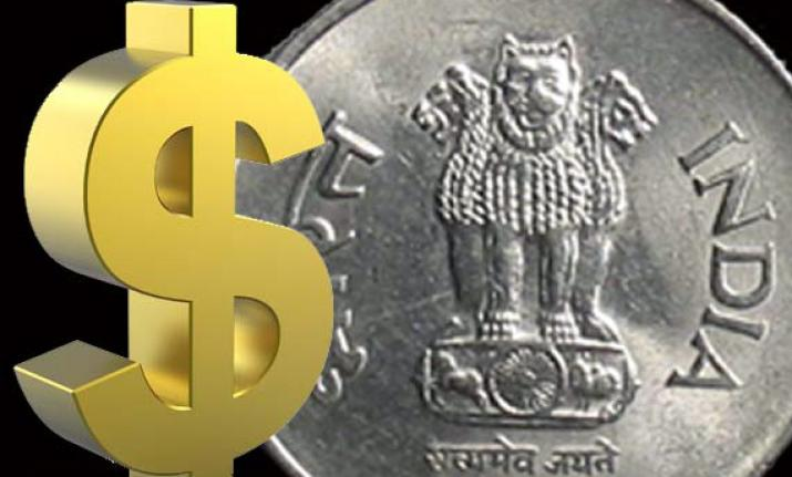 The rupee declined