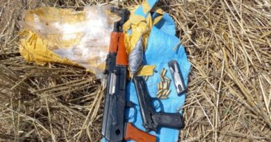 Weapons seized from