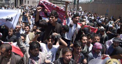 Slogans against Taliban