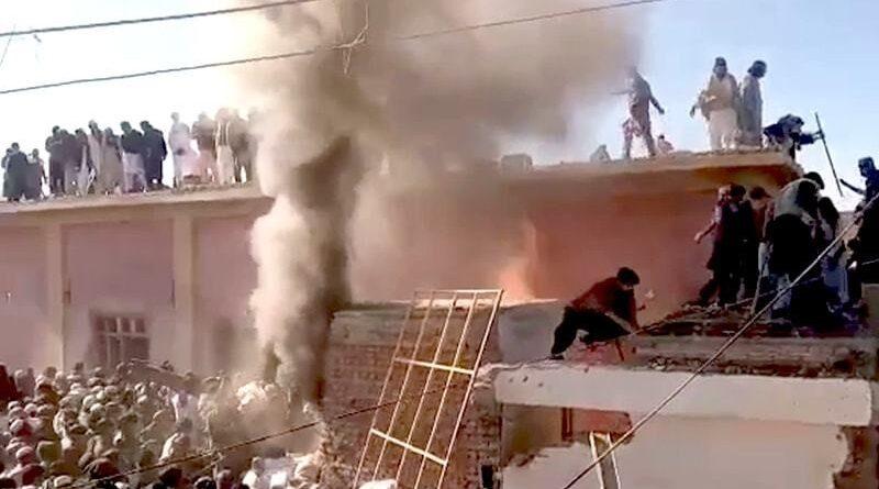 Hindu temple destroyed