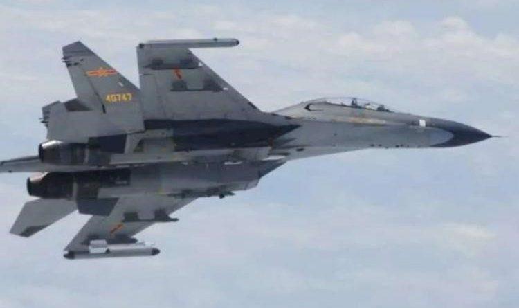 China's incursion into Taiwan again