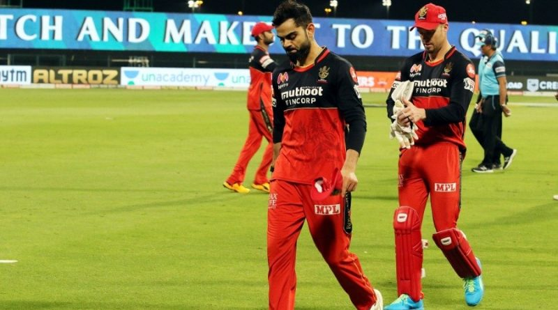 RCB out of the tournament